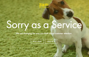 Sorry as service